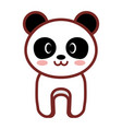 cartoon panda animal image vector image