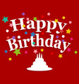 birthday greeting card vector image