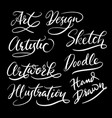 hand written typography vector image vector image