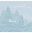Winter Foggy Landscape vector image