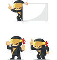 Ninja Customizable Mascot 3 vector image vector image