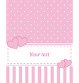 Card invitation pink vector image