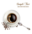 Cup of coffee realistic vector image