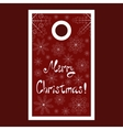 Christmas sale tag with snowflakes and Merry vector image