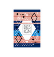 colorful card in memphis style abstract geometric vector image