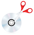 dvd cut icon vector image