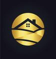 gold home nature landscape logo vector image