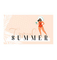 hand drawn abstract exotic summer time vector image