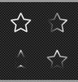 light glowing stars templates set vector image