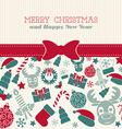 Retro Christmas card Typography vector image