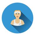 Tennis woman athlete head icon vector image