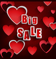 valentines day with sale background vector image