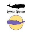 Sperm Whale emblems vector image