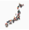 people map country Japan vector image
