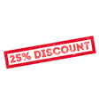 25 percent discount rubber stamp vector image
