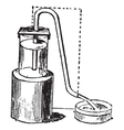 Siphon vintage engraving vector image vector image