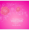 Pink sakura flowers isolated over sepia vector image vector image
