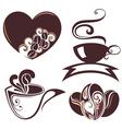 Coffee design symbols vector image vector image