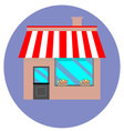 Icon shop building retail vector image