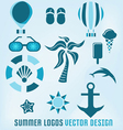 summer logos design vector image