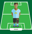 Computer game Uruguay Soccer club player vector image