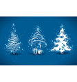 decorative christmas trees vector image