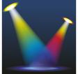 Color spotlights vector image vector image