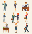 business people set corporate teamwork vector image