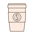 coffee drink beverage glass icon vector image