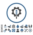 Engineering Flat Rounded Icon With Bonus vector image