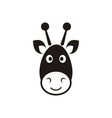 Giraffe head icon vector image