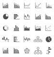 Graph icons on white background vector image