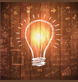 great new idea concept - bulb with hand draw vector image
