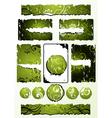green floral designs vector image