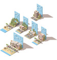 isometric car travel vector image