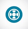 lifebuoy icon bold blue circle border vector image