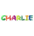 male name charlie text balloons vector image