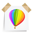 Notes Paper With Air Balloon vector image