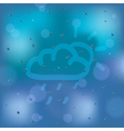 weather icon on the window vector image