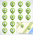 Travel web icons vector image
