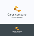 C cards files logo vector image
