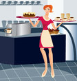 waitress-working vector image