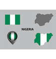 Map of Nigeria and symbol vector image