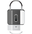 vector padlock with reflection vector image