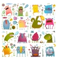 Fun Cute Cartoon Monsters for Kids Design vector image vector image