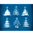 snowy christmas trees vector image
