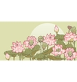 Thickets of lotus vector image