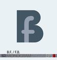BF FB monogram logo vector image