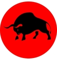 Bull attack red icon vector image