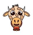 cow animal farm isolated icon vector image